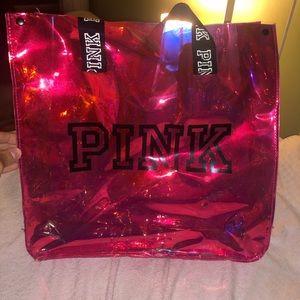 PINK VS vinyl tote bag!